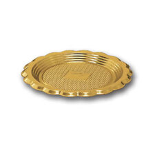 "Alcas Round Mini Medoro Tray, Gold, 12 cm (4.72"") - Pack of 10"