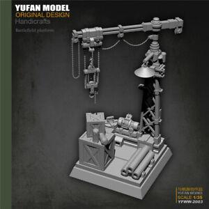 Unpainted Factory building Battlefield Platform Resin Kits 1/35 Model