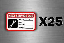 25 x sticker next service car van truck oil garage reminder change reminder
