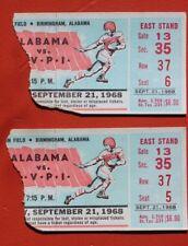 1968 VIRGINIA TECH vs ALABAMA FOOTBALL TICKET STUB   - BRYANT ERA