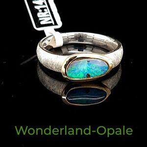 Boulder Opal Ring aus 925 Sterling Silber gr55