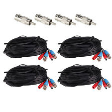 ZOSI 4pcs AHD TVI BNC Power Video Cable 65ft Wire Connector for Security System