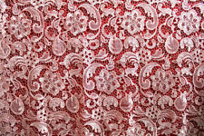 """51"""" Wide Guipure Embroidery Wedding Lace Fabric Floral Bridal Lace Fabric 1 Yard"""