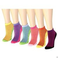 New 12 Pairs Womens Quarter Ankle Socks Multi Color Size 9-11 Cotton Casual