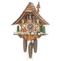 Authentic German Cuckoo Clock 8-day-movement Chalet-Style By Hekas 16 inch