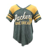 Green Bay Packers Official NFL Apparel Juniors Girls Size Sheer Shirt New Tags