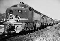 Santa Fe Super Chief photo Locomotive 90 Erie Built ATSF Railroad train