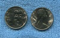 1981 UNC 20 cent coin ex  mint roll Australia