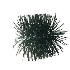 """Rutland Chimney Sweep 16906 Round Poly Cleaning Brush, 6"""" D, Black"""