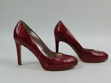 White House Black Market Womens Red  High Heels  Size 9M