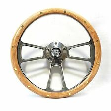 1960 -1969  GMC Pick Up Trucks Oak & Billet Steering Wheel GMC Horn Kit