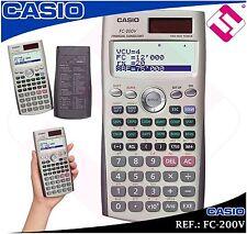 CALCULATOR FINANCIAL CASIO FC200V UNIVERSITY TECHNICAL SCIENTIST ORIGINAL