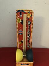 DIABOLO CARNIVAL CIRCUS STYLE Yellow & Blue with Trick Guide by Lucky Lad