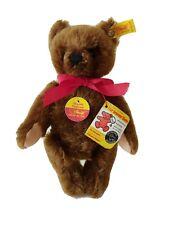 Steiff Chocolate Brown Original Teddy Bear Mohair 10 Inches EAN 0206/26 XLNT