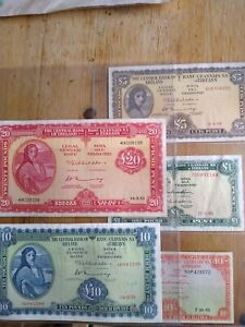5 x Lady Lavery Irish Banknotes Set