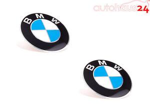 BMW WHEEL CENTER CAP EMBLEM DECALS STICKERS 70MM SET OF 2 GENUINE NEW OEM