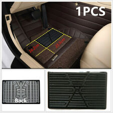 1Pcs Black Car Floor Mat Carpet Scuff Guard Foot Rest Pedal Plate Pad for Driver
