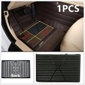 1Pcs Black Car Floor Mat Carpet Scuff Guard Foot Rest Pedal Plate Pad for Driver