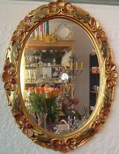 Kristallspiegel blattvergoldet  - oval - Design Irene Marianeschi