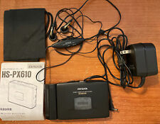 Aiwa Hs-Px610 Stereo Cassette Player Bass Walkman With Accessories