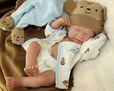 """BEAR HUGS BABY BOY""! PREEMIE Berenguer Life Like Reborn Pacifier Doll +Extras"