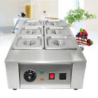 Commercial Electric Chocolate Tempering Machine 12kg Melter Maker 6 Melting pot