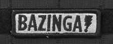BAZINGA SHELDON COOPER SWAT MORALE EMBROIDERED PATCH TACTICAL BIG BANG THEORY