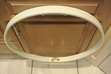 "1990 YAMAHA 22"" ROCK TOUR CUSTOM WHITE LACQUER BASS DRUM HOOP! #M384"