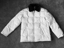 LOOK!! LIZ CLAIBORNE WHITE PUFFER COAT W/REMOVABLE FAUX FUR COLLAR!! SZ M