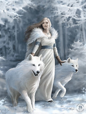 ANNE STOKES WINTER GUARDIAN WOLF - 3D MOVING PICTURE 300mm X 400mm (NEW)