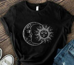 Sun And Moon T shirt / Retro Sun Moon %100 Premium Cotton