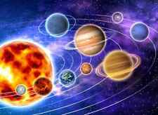 Wall Mural Space Solar System Large Repositionable Vinyl Interior Art Decor