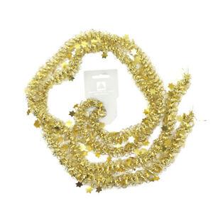 2x Schlingengirlande Gold Deckenhänger Girlande Einschulung Deko Partygirlande