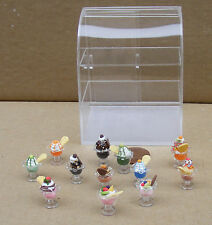 1:12 Scale Full Ice Cream Acetate Display Counter Curved Top Tumdee Dolls House