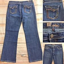 Kut From the Kloth Womens Bootcut Jeans Size 12 Button Flap Pocket Medium Wash
