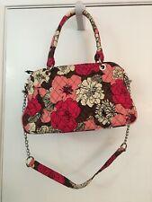 Vera Bradley Mocha Rouge Handbag with Removable Chain Shoulder Strap