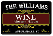 PERSONALIZED WINE TASTING ROOM METAL SIGN