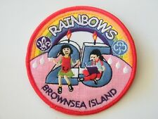 BROWNSEA ISLAND: 25th Anniversary of Rainbow Guides. Colourful embroidered badge