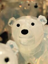 Swarovski 2011 SCS Pair of Polar Bear Cubs OPAL Color BNIB 1080774