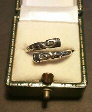 Mens Vintage 925 Sterling Silver Unusual Bali Byzantine Style Band Ring Sz N1/2