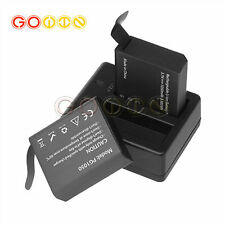 PG1050 Rechargeable Dual Battery&Charger for Eken V8s H8 H9 H8R H9R Sport Camera