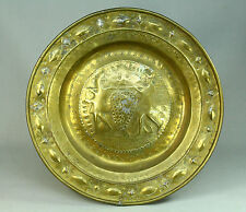 *1500's NUREMBERG Embossed Brass Alms Offering Bowl Charger Spies of Canaan