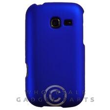 Samsung R480 Freeform 5 Shield Rubberized Blue Case Cover Shell Guard Shield