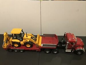 "Bruder Mack Granite Truck Construction Semi Tractor & Trailer 37"" Long Exc. Cond"
