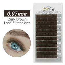 Lashview Individual Volume 3D-9D Colored Eyelash Extensions Drak Brown 0.07C12mm