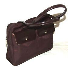 Authentic LONGCHAMP Laptop Document Holder BROWN Shoulder MEDIUM Handbag BAG