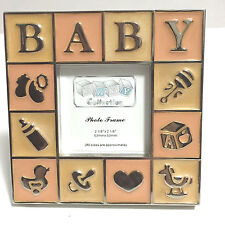 Silver Plated Baby Picture Frame Baby Shower Favor Newborn Announcement Gift