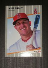 Mike Trout 1989  Style Ripken F*ck Face Parody ACEO Art Rookie Baseball Card