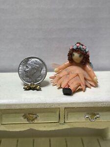 Vintage Artisan BETTERLEY '83 Sculpted Dresser Doll Dollhouse Miniature 1:12