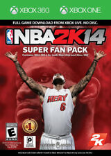 NBA 2K14 Super Fan Pack (Digital Codes Only) Xbox 360 + Xbox One New Xbox 360, X